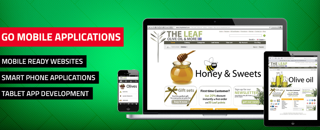 E-commerce: Shoptheleaf.com olive oil online shop